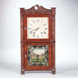 Hopkins & Alfred Carved Pillar and Splat Shelf Clock