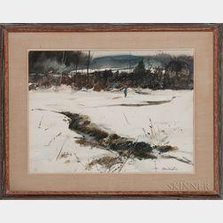 Murray Jackson Wentworth (American, 1927-2008)      Winter Silhouette