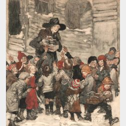 William Andrew (Willy) Pogany (Hungarian, 1882-1955)      Gifts for The Children