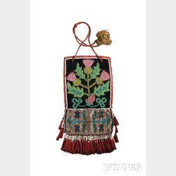 Kaska Beaded Cloth Panel Bag