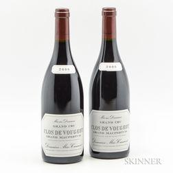 Meo Camuzet Clos de Vougeot Grand Maupertuis 2009, 4 bottle