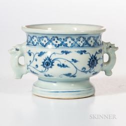 Blue and White Footed Censer