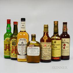 Mixed Whiskey, 1 liter bottle 2 750ml bottles 3 4/5 quart bottles 1 4/5 pint bottle