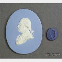 Two Wedgwood Jasper Portraits of George Washington