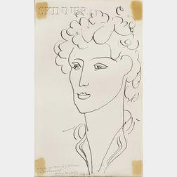 Henri Matisse (French, 1869-1954)      Tete de Femme, 1942