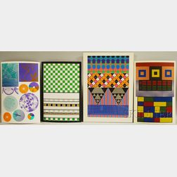 Eduardo Paolozzi (British/Scottish, 1924-2005)      Four Works from Moonstripe Empire News