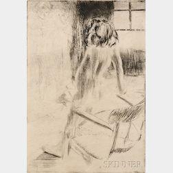 Jacques Villon (French, 1875-1963)      Minne appuyée au fauteuil