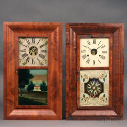 Two Thirty-hour Mahogany Ogee Clocks