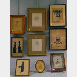 Nine Assorted Framed Works