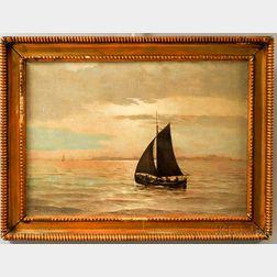 Henry Cady (American, 1849-1935)    A Quiet Sail, Warren Rhode Island