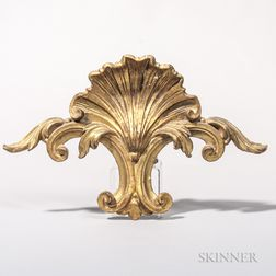Carved and Gilt Shell Decoration