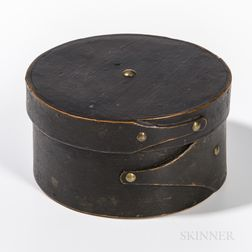 Black-painted Round Pantry Box