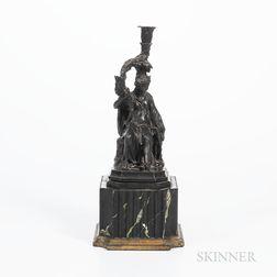 Wedgwood Black Basalt Diana Candleholder