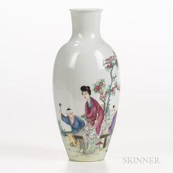 Enameled Eggshell Porcelain Vase