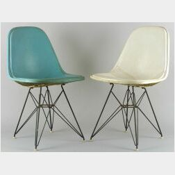 Set of Four Herman Miller Wire Chairs