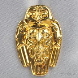 "18kt Gold ""Totem Spirits"" Pendant, Robert Bateman"