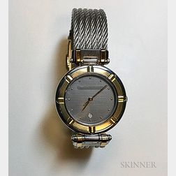 Stainless Steel and 18kt Gold Wristwatch, Charriol