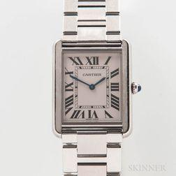 "Cartier Stainless Steel ""Solo Tank"" Reference 3169 Wristwatch"