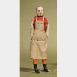 Dollhouse Doll Gentleman with Molded Beard