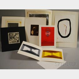 American/Continental School, 20th Century      Five Works on Paper