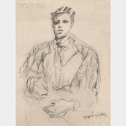 Jacques Villon (French, 1875-1963)      Hommage à Rimbaud