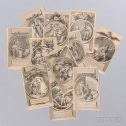 Twenty-seven Shakespeare Theatrical Engravings