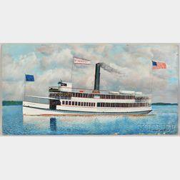Antonio Jacobsen (New York/New Jersey, 1850-1921)      Portrait of the Steamship Wilmington
