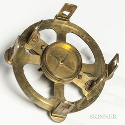 19th Century Diminutive Brass Circumferentor