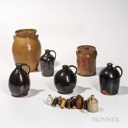 Seven Glazed Pottery Items
