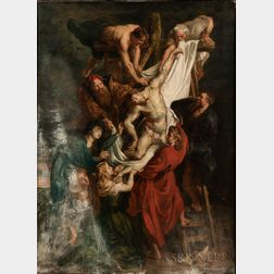 Continental School, 19th Century      Copy of Peter Paul Rubens's Descent from the Cross