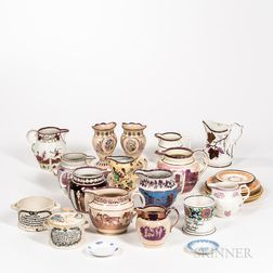 Approximately Twenty-seven Pieces of English Lustreware