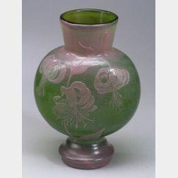Early Emile Galle Wheel Carved Studio Vase