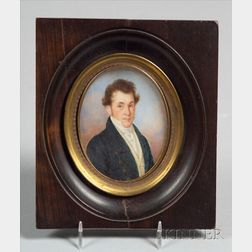 French School, 19th Century    Portrait Miniature of Dr. James M. Morse.