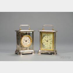 Two Nickel Plated Carriage Clocks by Terry Clock Company