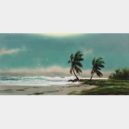 Harold Newton  (American, 1932-1994)      Landscape with Palm Trees/A Florida View