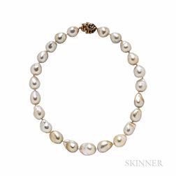 Arthur King Baroque South Sea Pearl Necklace