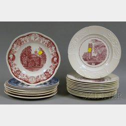 Twenty Assorted Wedgwood University and College Ceramic Plates