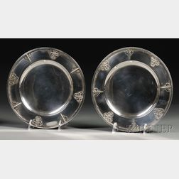 Pair of French Silver Footed Dishes