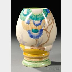 Clarice Cliff Bizarre Ware Vase