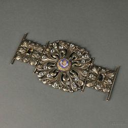 Gorham Gem- and Micromosaic-set Gold-washed Sterling Silver Morse