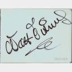 Disney, Walt (1901-1966) Signature.