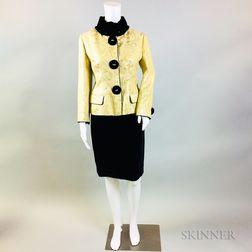Dolce & Gabbana Silk Brocade Suit