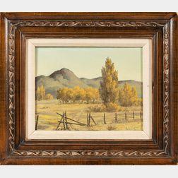 Cal E. Bromund (American, 1903-1979)      Desert Landscape