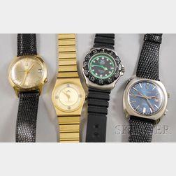 Four Gentleman's Wristwatches