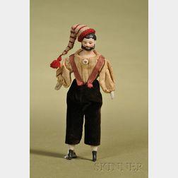 Dollhouse Doll Man with Molded Beard