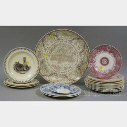 Twenty-one Assorted Wedgwood University and College Ceramic Plates
