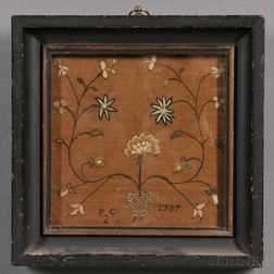 Small Framed Crewelwork Panel