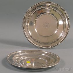 Two Sterling Silver Cake Plates