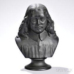 Wedgwood Black Basalt Bust of John Bunyan