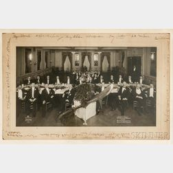 Wright, Orville (1871-1948) Signed Photograph Commemorating a Dinner in Honor of Wright Given by Grover G. Loening at Delmonicos, New